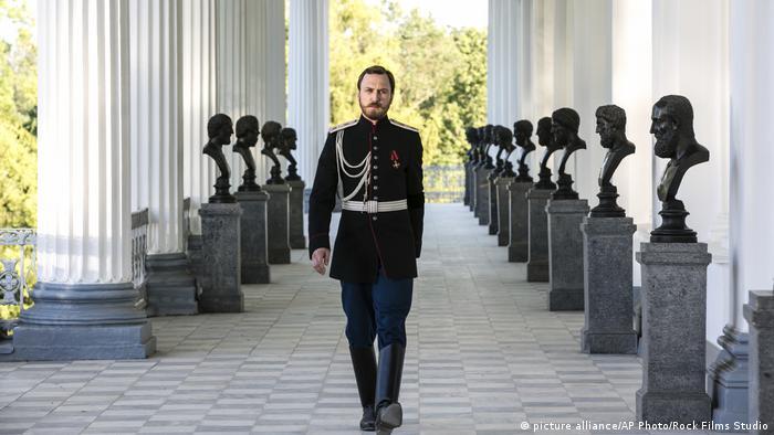A shot of czar protagonist Lars Eidinger in the movie 'Matilda'