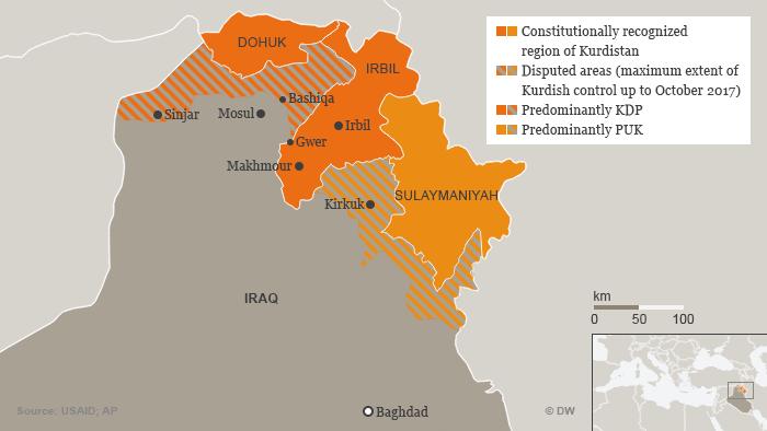 Karte Infografik Kurden Irak Oktober 2017 ENG