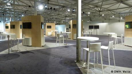 Working space at COP23 in Bonn (DW/H. Weise)