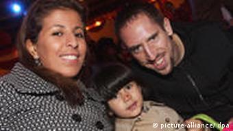 Ribéry sa suprugom Wahibom i kćerkom