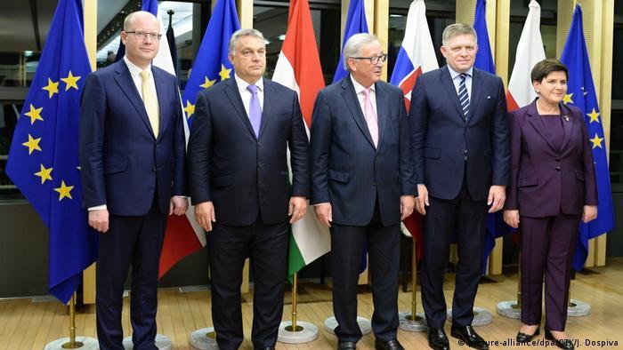 Belgien Brüssel Juncker trifft Visegrad-Gruppe