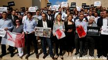 Malta Valetta Demonstration von Journalisten nach Mord an Journalistin Daphne Caruana Galizia
