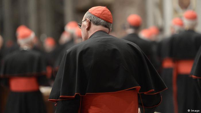 Cardinals seen from behind