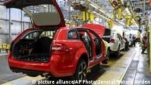 In this undated photo provided by General Motors Holden, cars are assembled on the production line in Adelaide, Australia. The Australian auto manufacturing era ends after more than 90 years on Friday, Oct. 20, 2017 when General Motors Co.'s last Holden sedan rolls off the production line in the industrial city of Adelaide. The nation has already begun mourning the demise of a home-grown industry in an increasing crowded and changing global car market. (General Motors Holden via AP) |