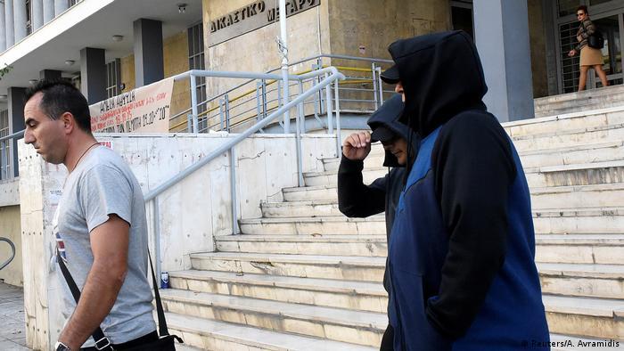 Griechenland zwei Ex-Geheimdienstagenten aus Mazedonien vor Gericht in Thessaloniki