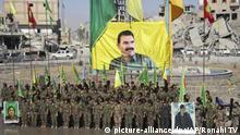 Syrien kurdischen Frauenmiliz in Al-Rakka