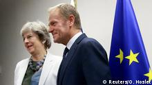 EU Gipfel Theresa May bei Donald Tusk