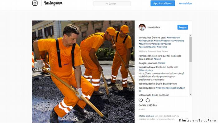 An Instagram post from Slovenian President Borut Pahor (Instagram/Borut Pahor)