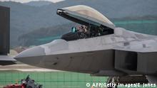Kampfflugzeug US Lockheed Martin F22 Raptor (AFP/Getty Images/E. Jones)