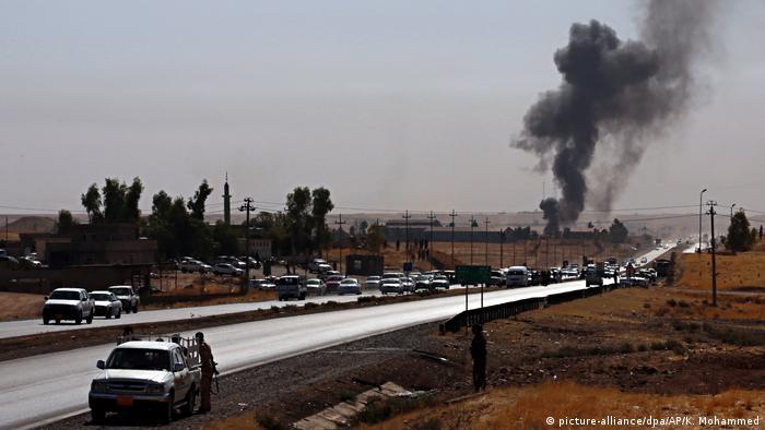 Боевые действия между курдами и иракскими войсками на севере Ирака