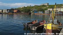 Hafen im Dorf Ozyorskoye auf Sachalin