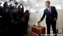 The leader of ANO party Andrej Babis casts his vote in parliamentary elections in Prague, Czech Republic October 20, 2017. REUTERS/David W Cerny