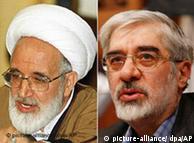 میرحسین موسوی و مهدی کروبی. نماینده ولی فقیه از رهبران مخالف به عنوان اشرار و بیخردان نام برد.