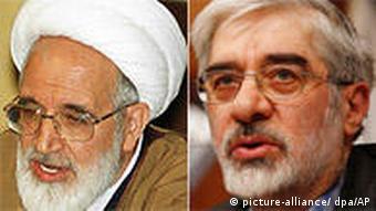 Iran Kombo Präsidentschaftswahlen Karubi und Moussavi