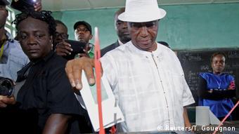 Vizepräsident Joseph Nyuma in Monrovia Liberia
