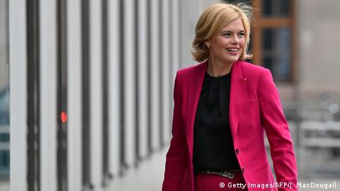 Julia Klöckner, a member of the Christian Democrats, arriving for preliminary coalition talks in Berlin. (Getty Images/AFP/J. MacDougall)