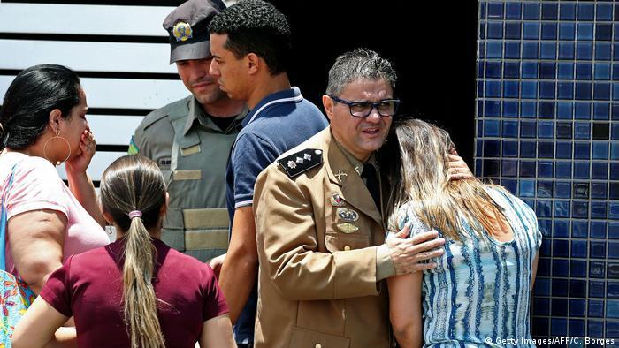 Brasilien Goiania Schießerei an Schule (Getty Images/AFP/C. Borges)