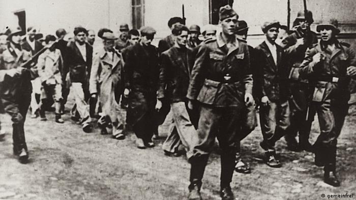 Φωτογραφία από τη σφαγή στο Κραγκούγιεβατς