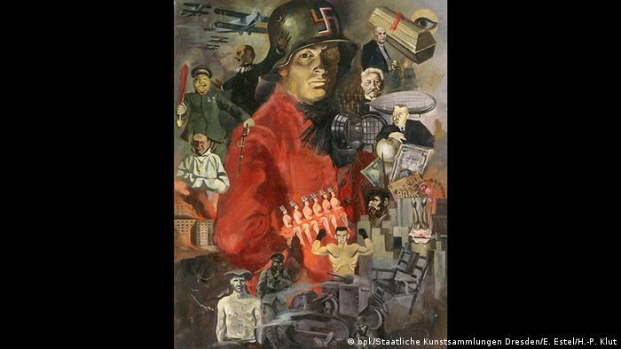 Frankfurt - Schirn Kunstfalle - Weimar Republik Ausstellung, Horst Naumann, Weimarer Fasching, um 1928/29 (bpk/Staatliche Kunstsammlungen Dresden/E. Estel/H.-P. Klut)