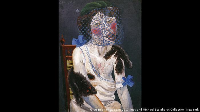 Frankfurt - Schirn Kunstfalle - Weimar Republik Ausstellung: Otto Dix, Dame mit Nerz und Schleier, 1920 (VG Bild-Kunst, Bonn 2017, Judy and Michael Steinhardt Collection, New York)