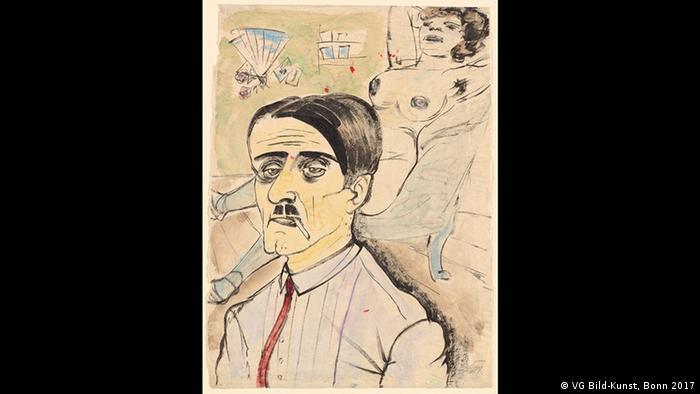 Frankfurt - Schirn Kunstfalle - Weimar Republik Ausstellung: Otto Dix, Zuhälter und Prostituierte, 1923 (VG Bild-Kunst, Bonn 2017)