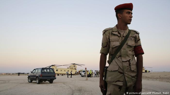 Ägypten - Ägyptischer Soldat (picture-alliance/AP Photo/A. Nabil)