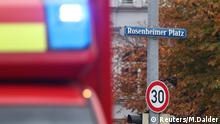 Ambulance and road sign in Munich (Reuters/M.Dalder)