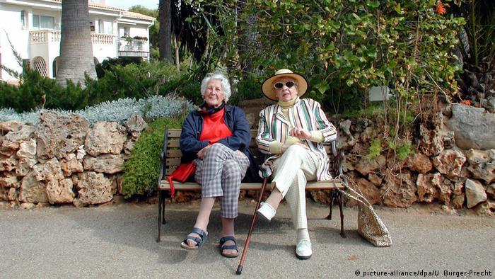 Немецкие пенсионерки на Мальорке