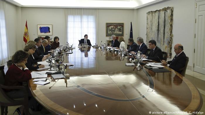 Заседание правительства Испании под руководством премьер-министра Мариано Рахоя.