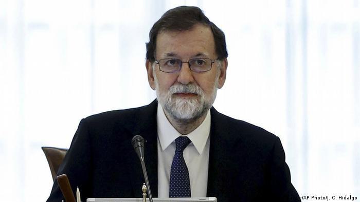 Spanien Ministerpräsident Mariano Rajoy leitet eine Kabinettssitzung zur Durchsetzung des Artikels 155