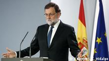 Spain's Prime Minister Mariano Rajoy speaks during a press conference at the Moncloa Palace in Madrid, Spain, October 21, 2017. REUTERS/Juan Carlos Hidalgo/Pool