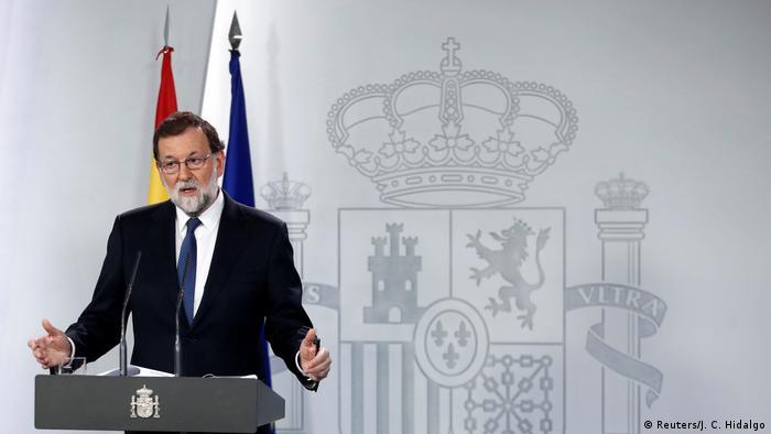 Spanien PK Ministerpräsident Mariano Rajoy (Reuters/J. C. Hidalgo)