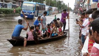O aumento da temperatura faria com que o nível dos oceanos aumentasse até quatro metros em Daca.