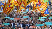 Spanien Demonstration für Unabhängigkeit Katalonien in Barcelona (Reuters/I. Alvarado)