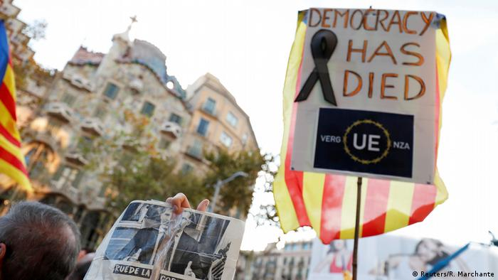Spanien Demonstration für Unabhängigkeit Katalonien in Barcelona (Reuters/R. Marchante)