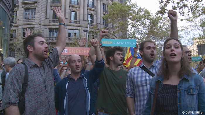 Spanien Barcelona Demonstration (DW/M. Müller)