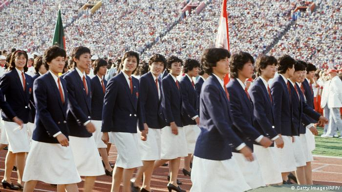 USA Los Angeles Olympiamannschaft China 1984 (Getty Images/AFP/)
