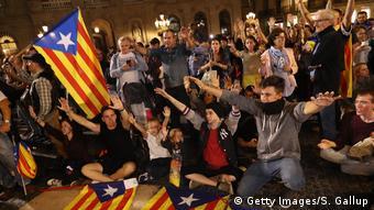 Spanien Demonstration für Unabhängigkeit Katalonien in Barcelona