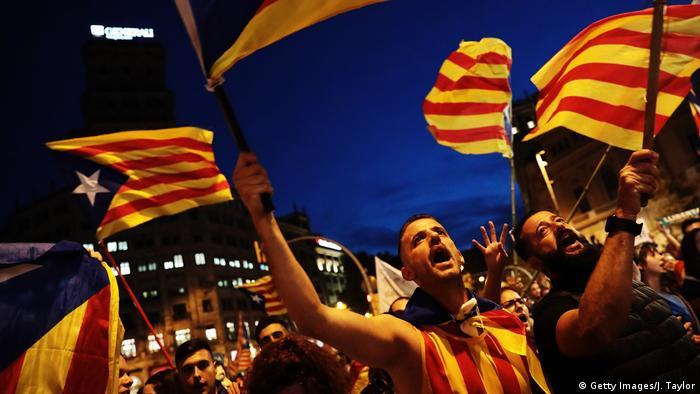 Spanien Demonstration für Unabhängigkeit Katalonien in Barcelona (Getty Images/J. Taylor)