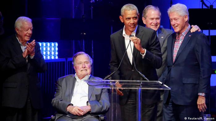 USA Texas Benefizkonzert für Hurrikan Opfer mit Fünf Ex-Präsidenten