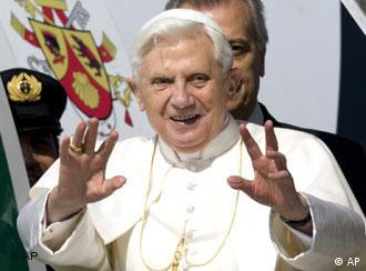 Pope Benedict XVI before leaving for Africa