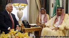 Saudi-Arabien Besuch Rex Tillerson bei König Salman