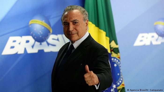 Brasilien Präsident Michel Temer (Agencia Brasil/V. Campanato)