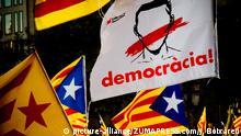 Spanien Protesten für die Unabhängigkeit nach Ankündigung des Artikels 155
