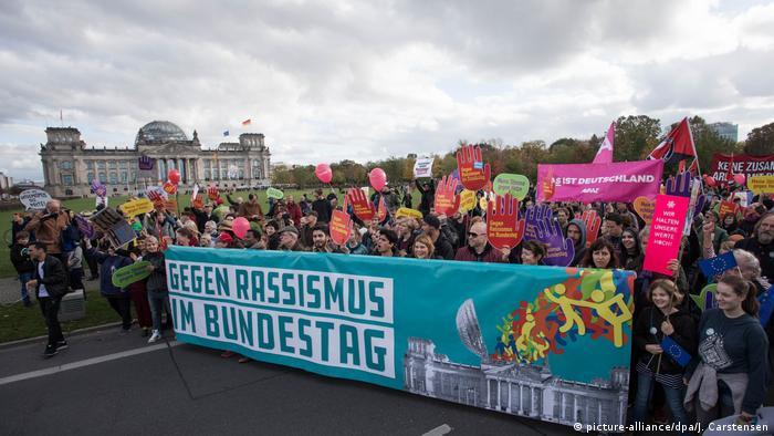 Demonstration against AfD in Bundestag