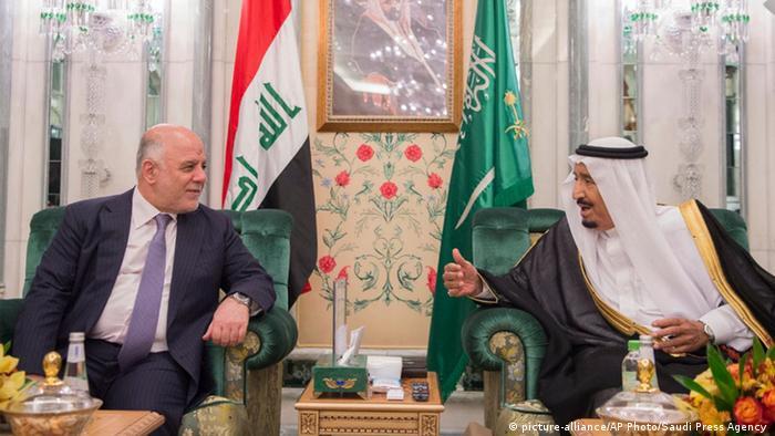 Saudi-Arabien Treffen von König Salman mit irakischer Ministerpräsident Haider Al-Abadi