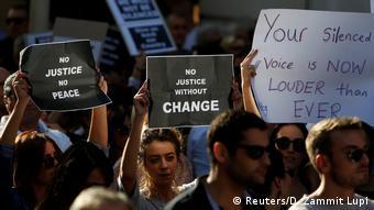 Protests of the killing of Daphne Caruana Galizia in Valletta