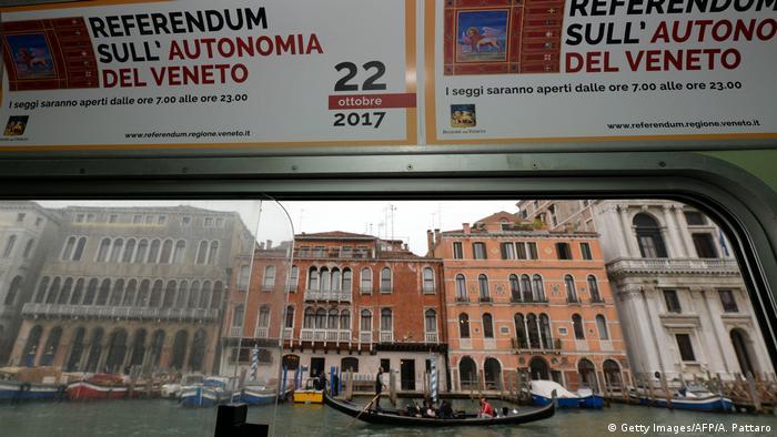 Агитационный плакат о референдуме в итальянском регионе Венето