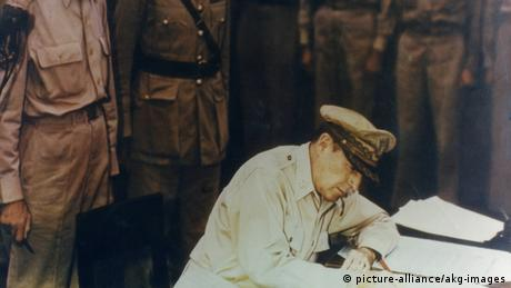 An image showing Japan's capitulation
