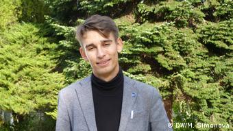Участник немецко-российского слэма Лев Максимов.